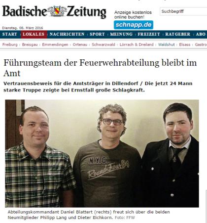 Bonndorf Dillendorf Führungsteam der Feuerwehrabteilung bleibt im Amt - badische-zeitung.de