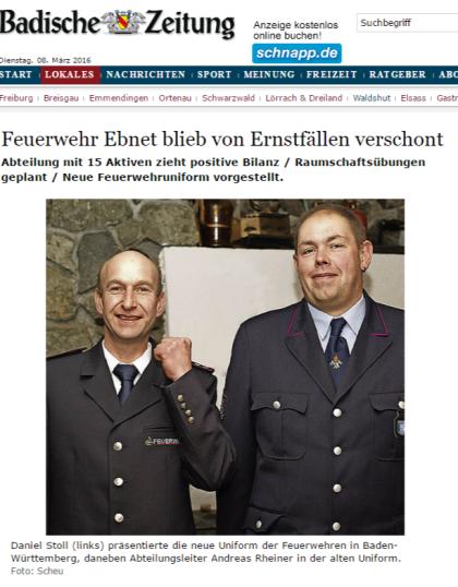 Bonndorf Feuerwehr Ebnet blieb von Ernstfällen verschont - badische-zeitung.de