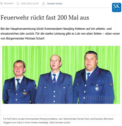 Bonndorf Feuerwehr rückt fast 200 Mal aus SÜDKURIER Online