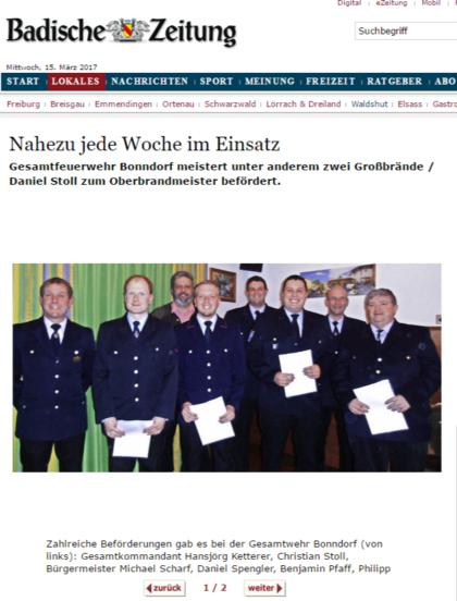 Bonndorf Nahezu jede Woche im Einsatz - badische-zeitung.de