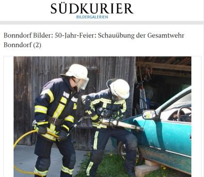 BONNDORF Bilder - 50-Jahr-Feier Schauübung der Gesamtwehr Bonndorf 2 SÜDKURIER Online