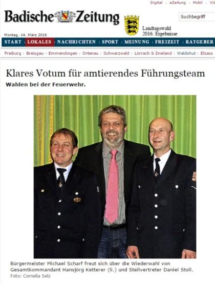 Bonndorf Klares Votum für amtierendes Führungsteam - badische-zeitung.de
